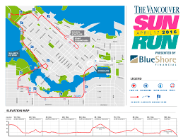 Map Run Route by Vancouver Sun Run Forerunners