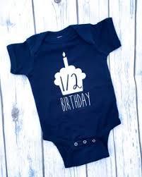 birthday onesie boy half birthday boy onesie 6 month birthday onesie 6 month