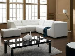 Light Brown Laminate Flooring Grey Bench Table With Black Sofa Using Light Brown Cushions White