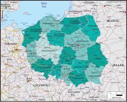 Map Poland Poland Political Wall Map Maps Com