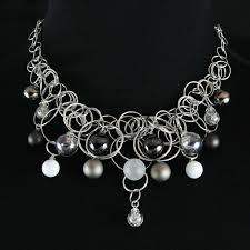 platinum necklace designs images Platinum frost cz 16 bubble necklace contemporary necklaces jpg