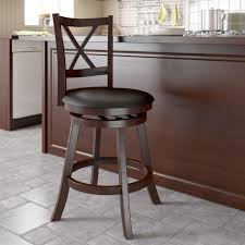 unfinished oil rubbed bronze iron swivel barstool with light brown