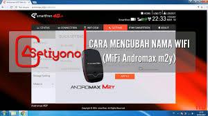 cara membuat hotspot di laptop dengan modem smartfren cara mengubah nama wifi andromax m2y youtube