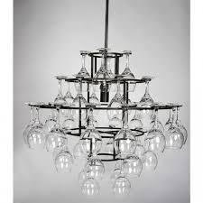 tiered hanging wine glass rack elegant and useful hanging wine