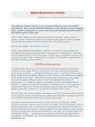 Ecumenical Councils Of The Catholic Church Definition Modern Ecumenism Is A Fraud Ecumenism Catholic Church