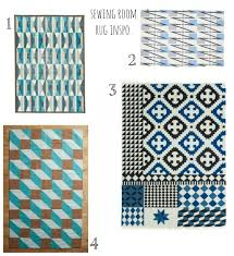Ikea Teal Rug Rug Inspiration For My Sewing Room Lazy Daisy Jones