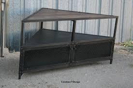 Unit Tv Buy A Handmade Corner Unit Tv Stand Vintage Modern Industrial