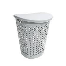 Make A Laundry Hamper by Shop Home Logic 1 7 Bushel Plastic Basket Or Clothes Hamper At
