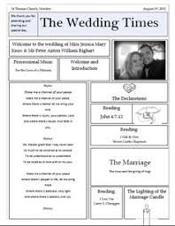 newspaper wedding program wedding newspaper program printed custom 4 page wedding newspaper