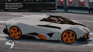 lamborghini egoista gta 4 lamborghini egoista start up u0026 review youtube