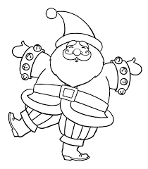 big happy santa claus christmas coloring pages christmas