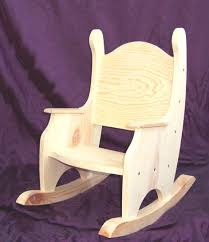 Kid Rocking Chair Child U0027s Rocking Chair W O Hearts Pine Unfinished 79 00