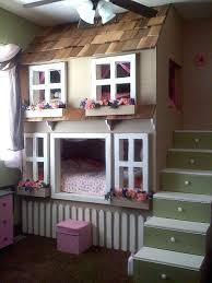 Doll House Bunk Bed Futon Bunk Bed Houses From The Pretty Painted Floors To The