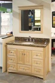 shaker natural maple bathroom cabinets semi custom sold through