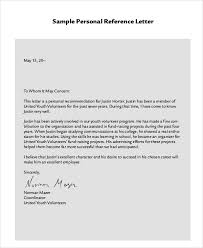 reference letterspersonal recommendation letter sample free