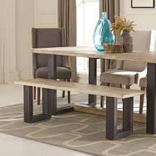 Two Tone Dining Room by Coaster 180183 Levine Two Tone Modern Dining Room Bench With U