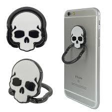 metal skeleton ring holder images Luxury metal skull universal pop phone finger ring holder stand jpg