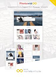photovid video and photography blogger template by raythemes