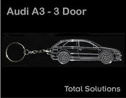 audi a3 keyring audi a3 3 door keyring car shape with 25mm split ring chain