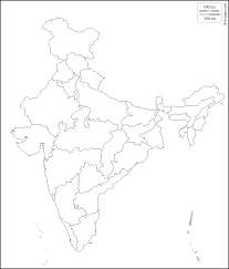 India Map With States by Geography Blog India Outlines Maps