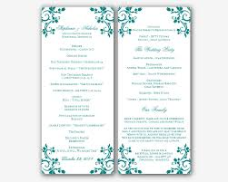 Wedding Ceremony Program Template Free 100 Wedding Ceremony Programs Templates Shortened Order