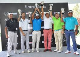 mercedes golf tournament 15th annual edition of mercedes trophy india national organized
