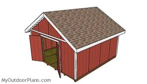 16x16 gable shed roof plans myoutdoorplans free woodworking