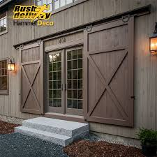 Home Decor Barn Hardware Sliding Barn Door Hardware 10 by 10 12 13 15 Ft 16ft Horseshoe U Shaped Modern Barn Wood Interior