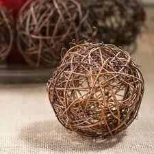 grapevine balls twig grapevine vase and bowl fillers home decor