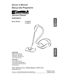 kenmore vacuum cleaner 116 23613 user guide manualsonline com