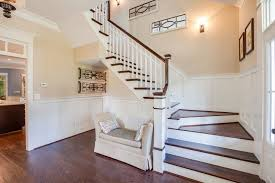 traditional staircase with chair rail by stephen alexander