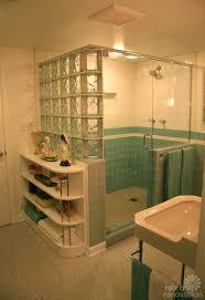 vintage wall tile plastic bathroom seafoam green blue aqua