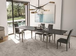 ceramic top dining room tables totem extending dining table with ceramic or glass finish top by