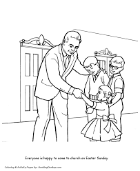 church coloring pages children come to church honkingdonkey