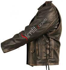 mens black leather motorcycle jacket duty brando black distressed biker jacket