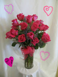 valentines delivery two dozen hot pink roses valentines delivery 2 dz roses