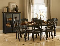 black wood dining room sets