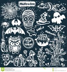 vector vintage halloween set of icons stock vector image 44378217