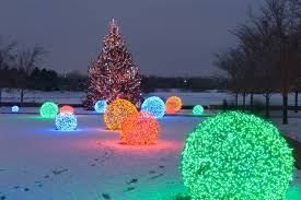christmas light balls for trees add colorful outdoor lighted christmas balls to your yard