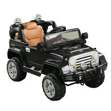 electric jeep aosom 12v kids jeep style electric battery powered ride on car