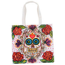 popular traditions sugar skull tote ilovetocreate