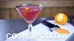 cosmo martini recipe cosmopolitan cocktail recipe slow motion flamed zest youtube