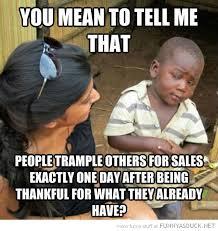 Gratitude Meme - consumerism the creative dad homeschooling blog