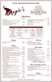 menu augie s family style italian restaurant