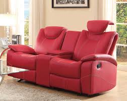 Leather Recliner Chair With Cup Holder Funiture Modern Reclining Sofa Ideas For Living Room Using Red