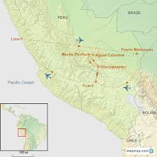 Amazon Rainforest Map Amazon U0026 Inca Trail Custom Tours Southern Explorations