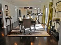 Dining Room Rug With Black And White Stripes Ideas Home Interior - Dining room rug ideas