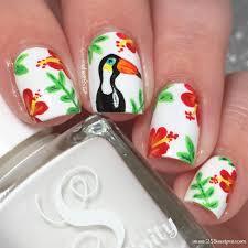tropical toucan nail art 25 sweetpeas