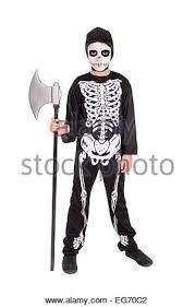 Boys Skeleton Halloween Costume Boy Face Paint Skeleton Halloween Costume Stock Photos U0026 Boy Face