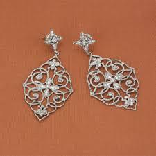 earrings brands leslie greene sterling silver hudson diamond dangle earrings